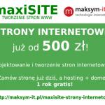 Strony internetowe – projektowanie i tworzenie – maxiSITE