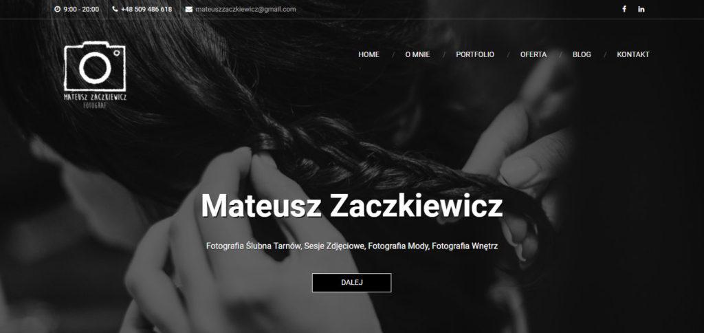 Mateusz Zaczkiewicz fotograf